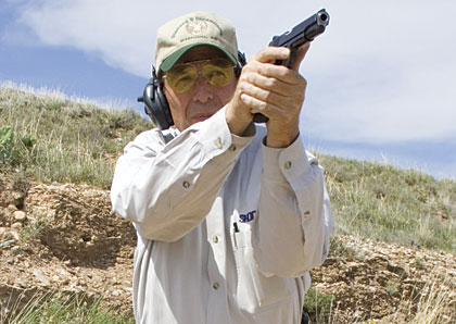Sheriff Jim Wilson on the range Gunsite Academy