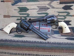 Single Action Army Revolvers chambered for the .45 Colt Cartridge