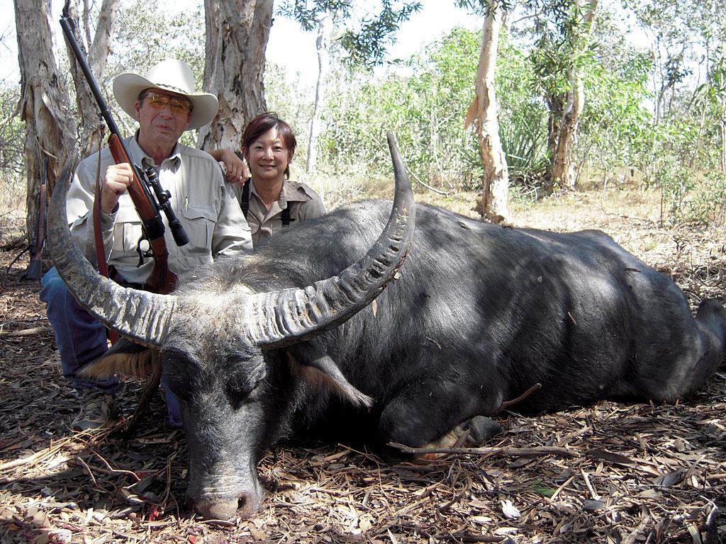 It's best to keep it simple when hunting Cape Buffalo. Sheriff Jim Wilson