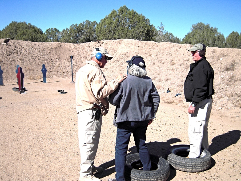 The Defensive Trainer on the Range at Gunsite Sheriff Jim Wilson
