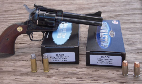 DoubleTap Great Ammo in .45 Colt and .45 ACP Sheriff Jim Wilson