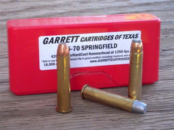 The .45/70 Springfield from Garrett Cartridges of Texas Sheriff Jim Wilson