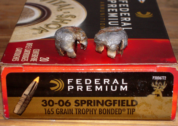 Federal Premium 30-06 Springfield 165 grain trophy bonded tip bullets for thought critters Sheriff Jim Wilson