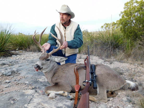 Sheriff Jim Wilson with a Transpecos Mule Deer taken with the Federal 165 grain Trophy Bonded Tip cartridge in .30/06