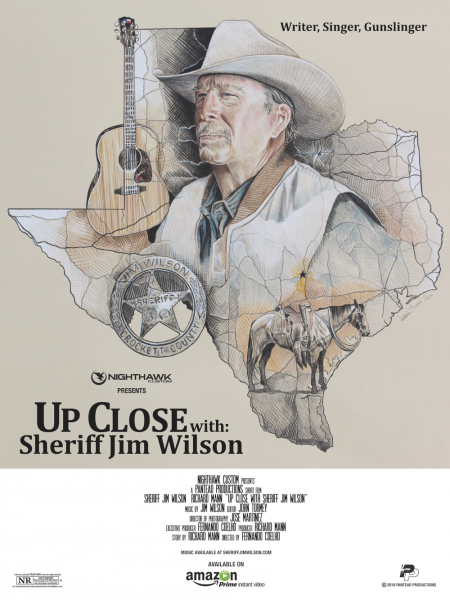 "Release poster for ""Up Close With Sheriff Jim Wilson."